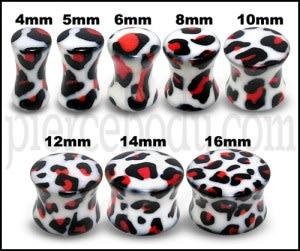 UV Double Flared Dalmatian Ear Plug