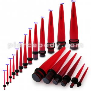Black in Red Color Stright Ear Expander