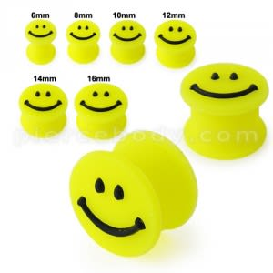 Embossed Smiley Silicone Ear Plug