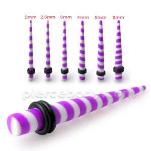 Purple Stripe Straight Ear Expander