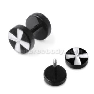 Irish Cross Laser Cut Fake Ear Plug