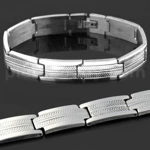Stainless Steel Plain Laser Cut  Mens Bracelet