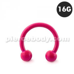 Neon Rose 316L Surgical Steel Circular Barbell with Ball