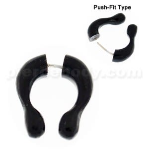 Organic Horn Fake 6 mm Horseshoe Ear Plug Piercing