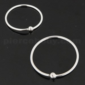 925 Sterling Silver Open Hoop BCR Nose and Ear Tragus Ring