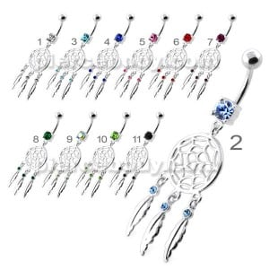 Classic Dream Catcher belly button bars