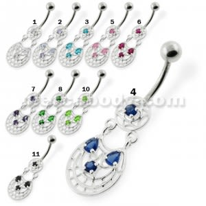 Fancy Jeweled belly button rings