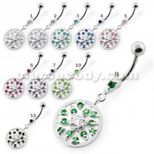 Jeweled Flower navel piercing