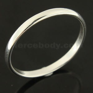 Classic Plain Sterling Silver Finger Ring