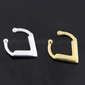 925 Sterling Silver V Shape Fake Septum Piercing