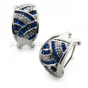 Micro Setting Sapphire Jeweled Ear Clip