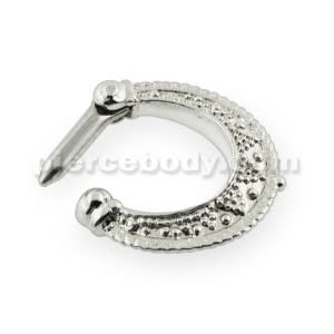 Dotted Pattern Septum Clicker Ring