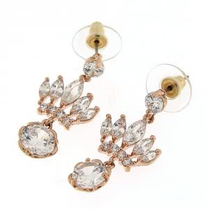 Crown Fancy Jeweled Hanging Ear Stud