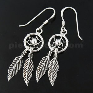 925 Sterling Silver Classic Dream Catcher earring