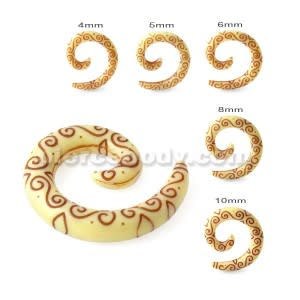 Tribal Carving Symbols Ear Stretcher