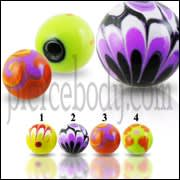 Colorful Hand Painted UV Balls