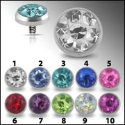 Crystal stone Dermal Anchor Top | Dermal Anchors