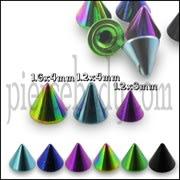 G23 Grade Anodised Titanium Cone Accessories