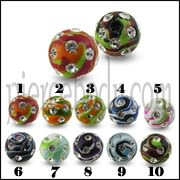 Multi Color Painted Crystal stone Ball