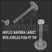 Bio Madonna Labret with jewelled push-fit Top