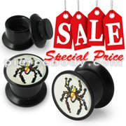 Spider Logo With Screw Fit Ear Flesh Tunnel