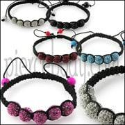 Multi Crystal Ball Bracelet