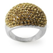 Austrian Crystal Stone Brass Finger Ring FDRG001GD