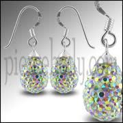 Multi Color Crystal stone Tear Drop Earring