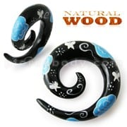 Colorful Painted Spiral Wood Ear Expander