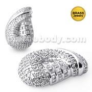 Jeweled Fancy Brass Pendant Body Jewelry