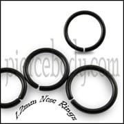 Black Anodized Nose Hoop Ring