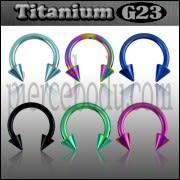 Circular Barbell G23 Grade Anodised Titanium