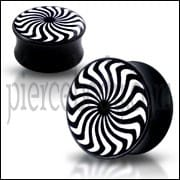 Double Flared eye Swirl Logo Ear Plug