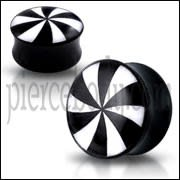 Double Flared Swirl Logo Ear Plug