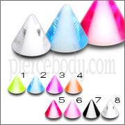 Ear Lip Chin UV Acrylic Fancy Cones Body Jewelry