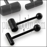 Steel Blackline Capsule Tongue Barbell