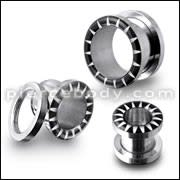 SS Screw Fit Flesh Tunnel