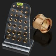 Rose Gold Platted Internal Screw Fit Ear Flesh Tunnel in Tray
