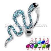 Multi Jeweled Snake Dangling Belly Banana
