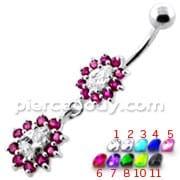 Fancy Jeweled cute belly button piercing