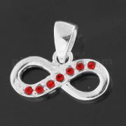 925 Sterling Silver Jeweled Infinitive Pendant