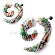 Multi Stripes Spiral Fake UV Ear Expander