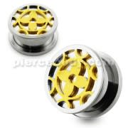 Flower Plate Screw Fit Ear gauges