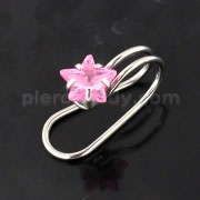 Star Jeweled Pressing Type Non Piercing Cartilage Clip on Ear ring