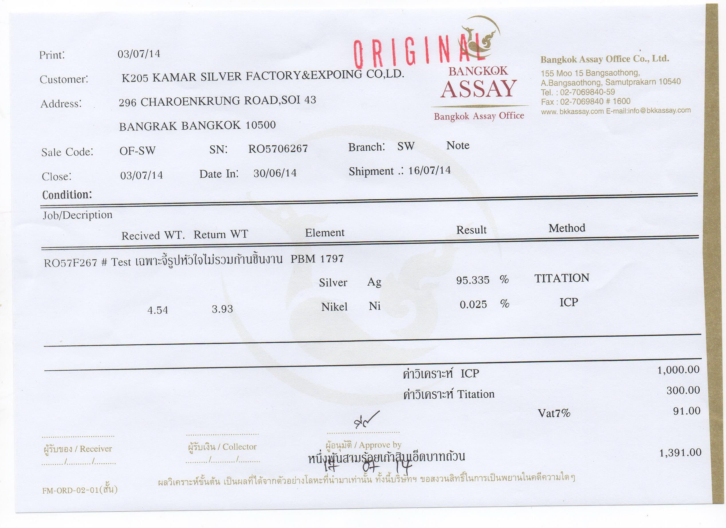 925 Silver Certified