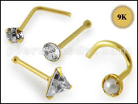 9K Gold Nose Piercings