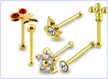 Diamond Gold Nose Studs