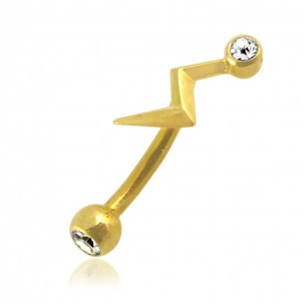 14K Gold Eyebrow Piercing