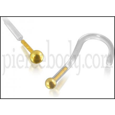 Bio-Plast Nose Screw with 14K Gold Ball Head