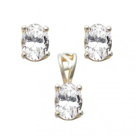 22K 6X8mm Oval Shaped Gold Set Jewelry